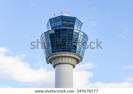 Athens International Airport - Eleftherios Venizelos and air Traffic Control Tower (TWR) in Spata. Attica - Greece