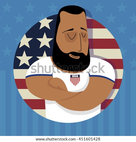 Athlet for the USA team - stock photo