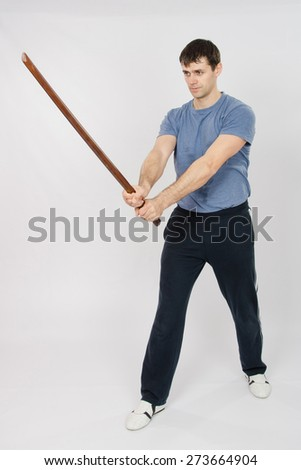 Athlete configured to perform snowcock stick - stock photo