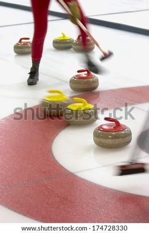 Athlete Curling - stock photo