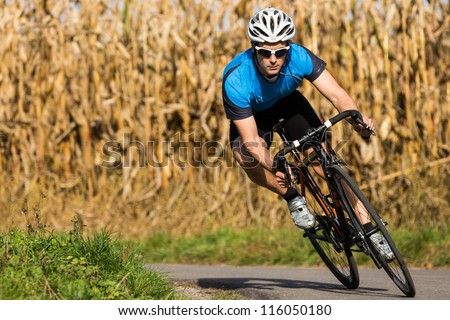 athlete on a race cycle