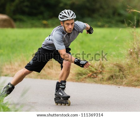 athlete on Inline-Skates