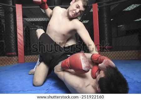 Athlete practice technique of fight fo a futur event - stock photo
