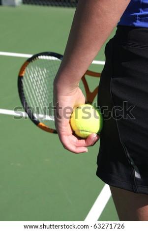 Athlete ready to serve the tennis ball