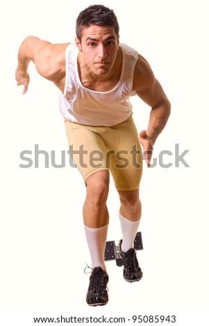 Athlete Sprinting - stock photo