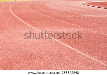 Athlete Track or Running Track - stock photo