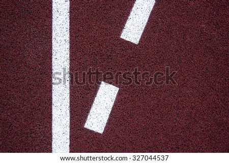 Athlete Track or Running Track with nice scenic with copy space