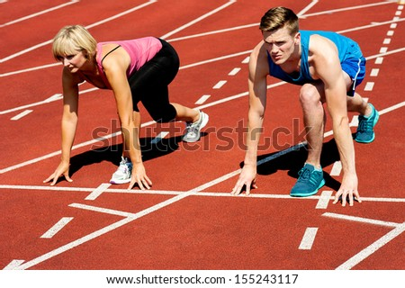 Athletes all set for a competitive race