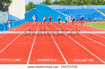 athletes race men,sports background - stock photo