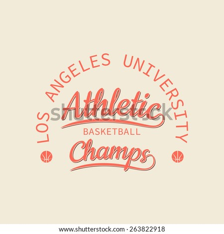 Athletic basketball champs stamp for typography. It is a print for design of your t-shirt and for use in other spheres - stock photo