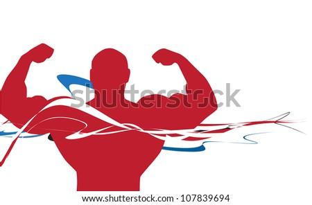 Athletic man - stock photo