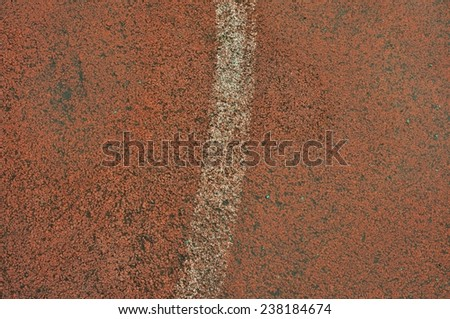 athletic track filed - stock photo
