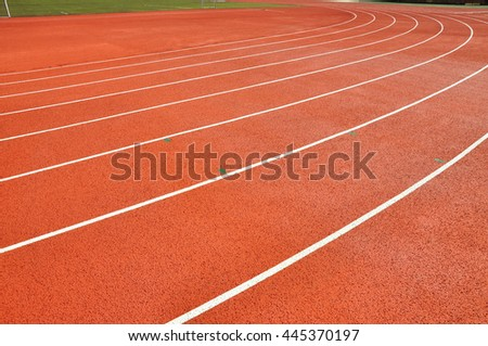 Athletic track lane.