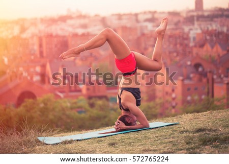 woman handstand stock images royaltyfree images