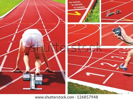 athletics - collage - stock photo