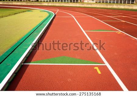 Athletics stadium - stock photo