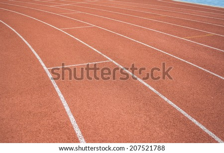 athletics Track Lane made with orange rubber