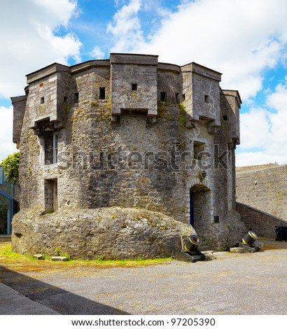 Athlone castle in summer, Co. Westmeath, Ireland. - stock photo