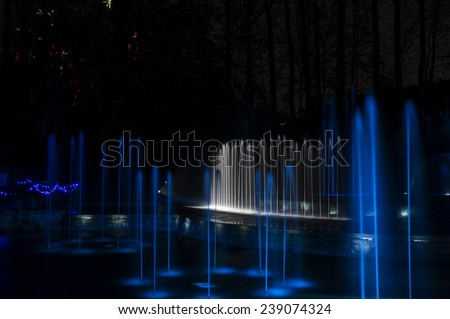 Atlanta Botanical Gardens - Christmas 2014 - stock photo