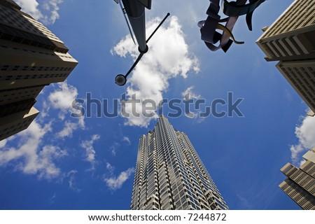 Atlanta Georgia Business Skyscrapers Downtown - stock photo