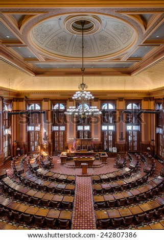 ATLANTA, GEORGIA   DECEMBER 2: House Of Representatives Chamber In The Georgia  State Capitol