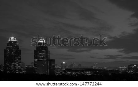 Atlanta Georgia sunrise - stock photo