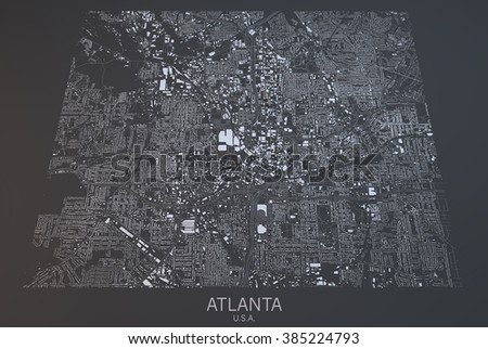 Atlanta Map Stock Images RoyaltyFree Images Vectors Shutterstock - Us map satellite