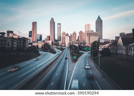 Atlanta morning skyline, Georgia, USA - stock photo