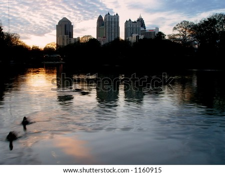 Atlanta Skyline. Dusk. - stock photo