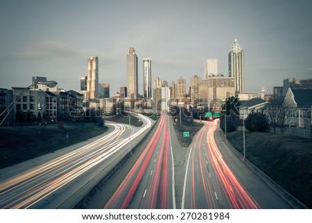 Atlanta skyline, Georgia, USA - stock photo