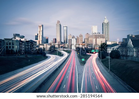Atlanta skyline, Georgia, USA - stock photo