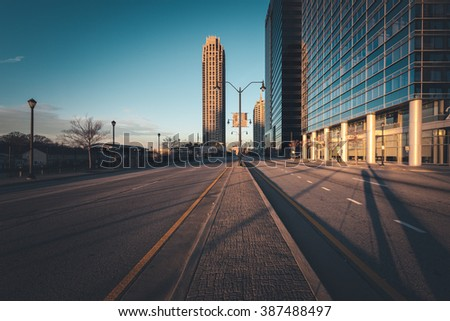 Atlanta street at sunny morning, Georgia, USA