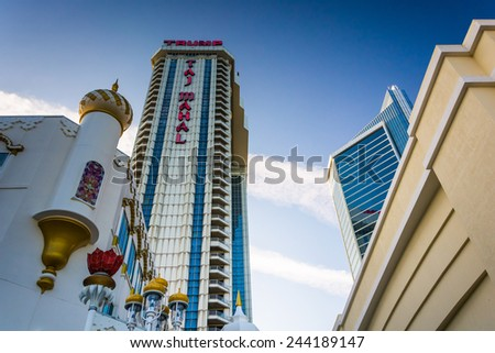 ATLANTIC CITY - MAY 30: The Trump Taj Mahal on May 30, 2014 in Atlantic City, New Jersey. The Trump Taj Mahal is a hotel and casino in Atlantic City.