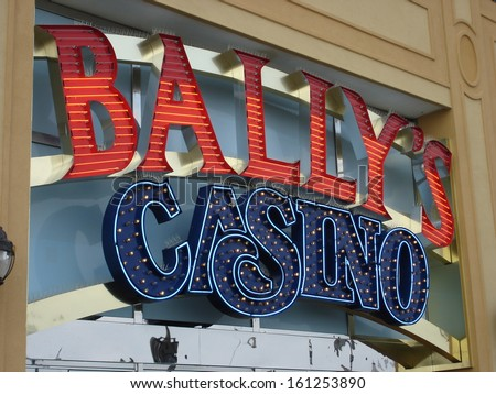 ATLANTIC CITY, NEW JERSEY - JUNE 1: Bally's in Atlantic City, New Jersey, as seen on June 1, 2006. It is a hotel and casino located on the Boardwalk in Atlantic City. - stock photo