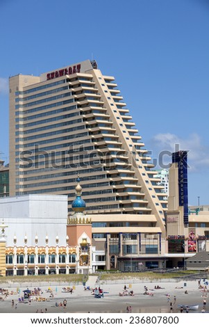 Atlantic City, New Jersey, USA - Aug 24, 2014: The Showboat Hotel and Casino in Atlantic City, New Jersey, USA on Aug 24, 2014 - stock photo
