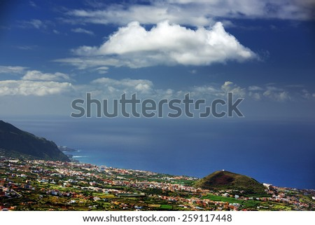 Atlantic coast in Tenerife, Spain, Europe - stock photo