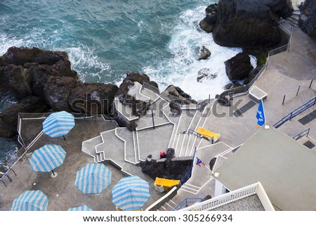 Atlantic coast of Madeira Island, Portugal, Europe  - stock photo