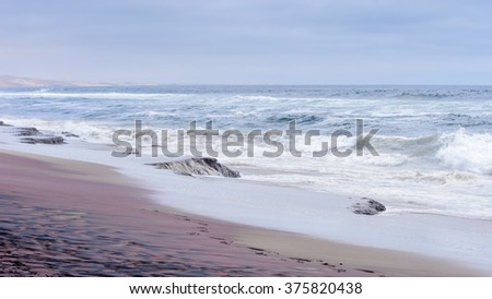Atlantic Ocean coast at the Namib-Naukluft National Park, Namibia