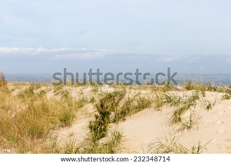 Atlantic Ocean coastline in Lewes, Delaware. - stock photo