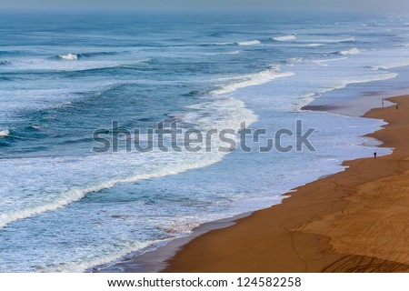 Atlantic ocean during the winter - stock photo