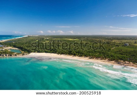 Atlantic Ocean from helicopter view  - stock photo