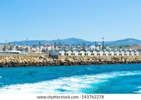 Atlantic Ocean, Strait of Gibraltar. - stock photo