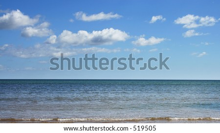 Atlantic ocean taken from Ireland - stock photo