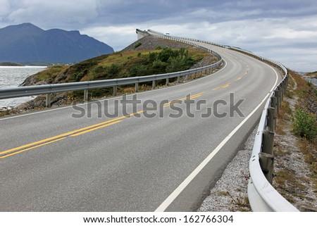 Atlantic Road in Norway - stock photo