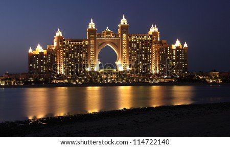 Atlantis, The Palm Hotel in Dubai, United Arab Emirates - stock photo