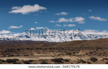 Atlas Mountains from Midelt, Morocco
