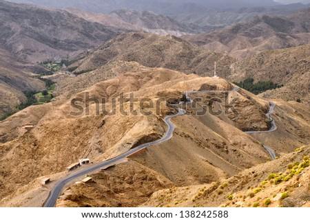 Atlas mountains highway, Morocco - stock photo