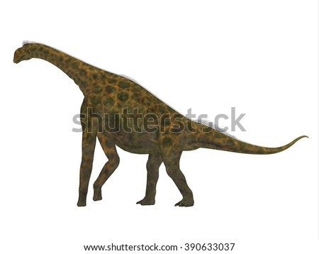 Atlasaurus Side Profile - Atlasaurus was a large herbivorous dinosaur that lived in the Jurassic Period of Morocco, North Africa.