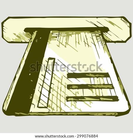 Atm card. Banking Equipment. Raster version - stock photo