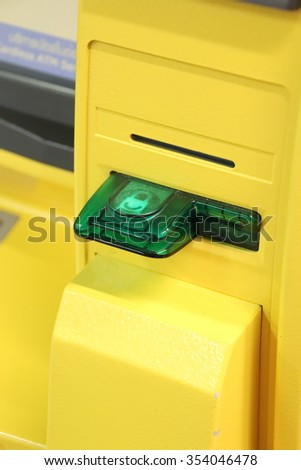ATM Card Insert in Thailand - stock photo